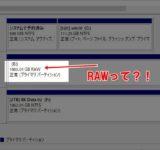 HDD Raw化